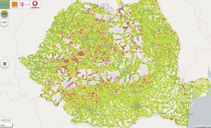 Scientia Ro Harta Reală De Acoperire Cu Semnal Mobil A