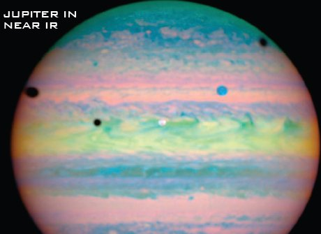 Jupiter in infrarosu